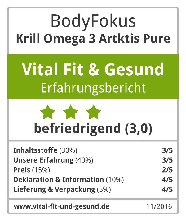 Krill Omega 3 Arktis Pure Siegel
