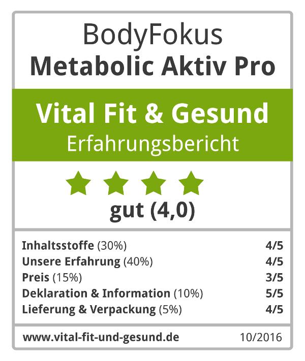 Metabolic Aktiv Pro Siegel
